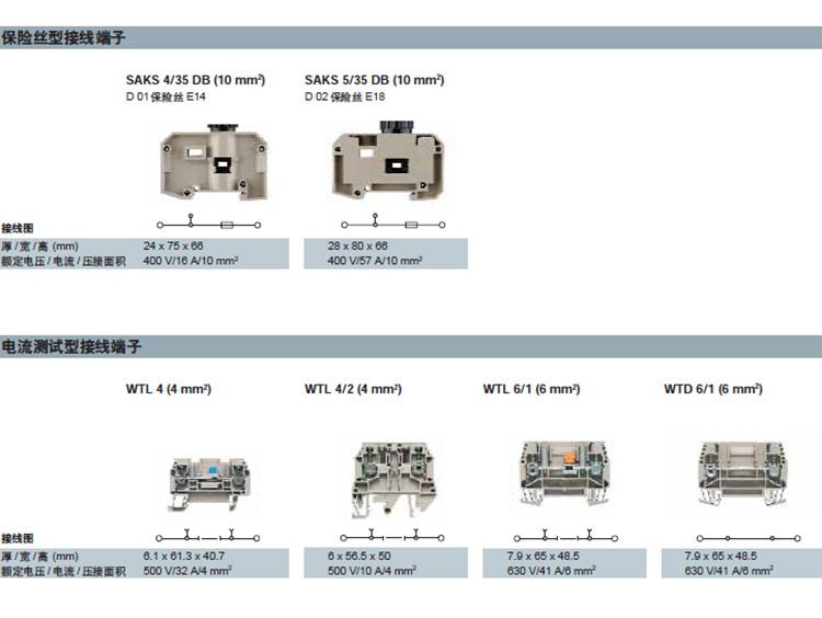 W电流测试型接线端子